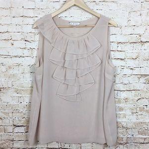 Cabi Ruffle collar blouse XL